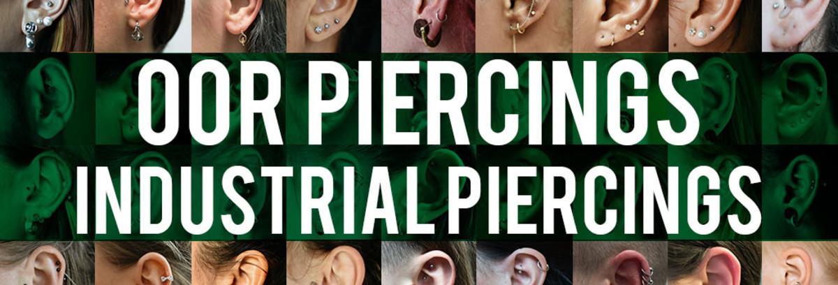 Oor piercings - Industrial piercing