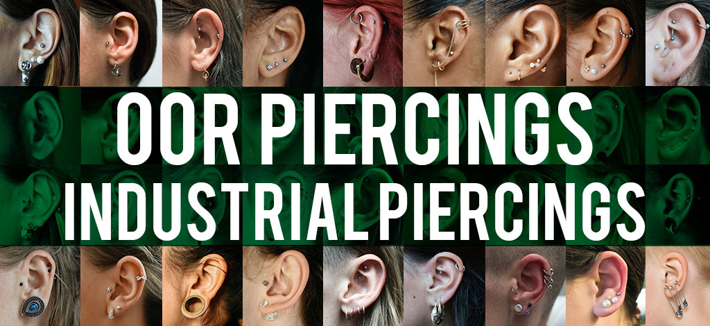 Oor piercings - Industrial piercing
