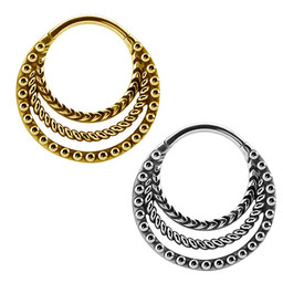 Chirurgisch Staal Septum/Daith Click Ring - Tribal