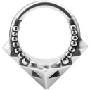 Chirurgisch Staal Click Ring - Tribal