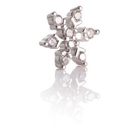 Zilveren Piercing Balletje - Sneeuwvlok