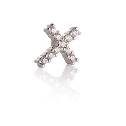 Silver Piercing Ball - Cross