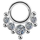 Titanium Click Ring - Swarovski Zirconia