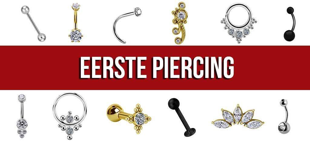 Kies uit een ruim assortiment piercing sieraden voor je eerste piercing.