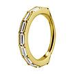 Piercing  Ring - Baguette Cubic Zirconia