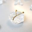 Free Rotating Nipple Chain Barbell - Swarovski Crystals
