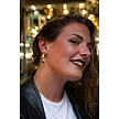 Gold Plated Septum Click Ring - Crystals