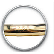 18K Goud Navelpiercing - Swarovski Zirconia Teardrop