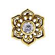 18K Gold Piercing - Swarovski Zirconia Flower