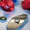 18K Gold  Click Ring - Swarovski Zirconia Teardrop