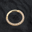 18K Gold  Click Ring - Swarovski Zirconia