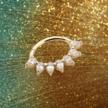 18K Goud  Click Ring - Swarovski Zirconia