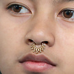 Vergulde Hinged Segment Ring - Tribal