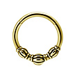 Surgical Steel Click Ring - Tribal
