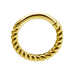 18K Gold Piercing Ring - Twisted Rope