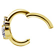 18K Gold Clicker - Heart Zirconia