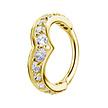 18 Karat Gold Conch Ring - Zirconia