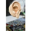18 Karat Gold Ear Threader - Marquise Zirconia