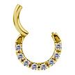 18 Karat Gold Septum/Daith Ring - Swarovski Zirconia