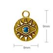 Segment Ring Charm - Opal Eye