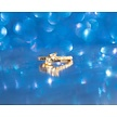 Gold Plated Click Ring - Marquise Zirconia