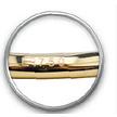 18 Karat Gold Belly Piercing - Swarovski Zirconia