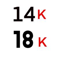 18K  &  14K Gouden Piercings