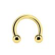 14 Karat Solid Gold Circular Barbell