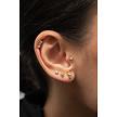 Surgical Steel Ear Piercing - Baquette Zirconia