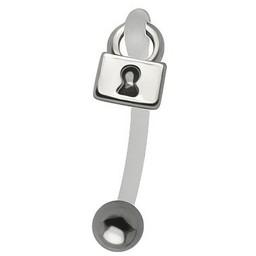 Genital Piercing - Lock Hanger Surgical Steel & Bioplast