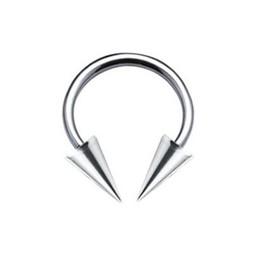 Chirurgisch Stalen Circular Barbell - Lange Cones