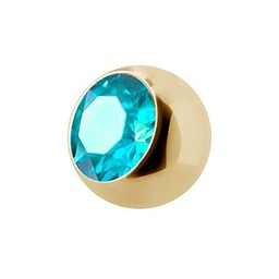 Piercing Ball - Crystal Gold