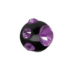 Piercing Balletje - Kristalletjes Zwart Staal
