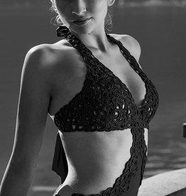 Nicole Olivier Badpak CHACHA | Zwart | SS2020