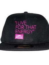 A State Of Trance A State Of Trance - I Live For That Energy - Pink On Black Snapback Cap