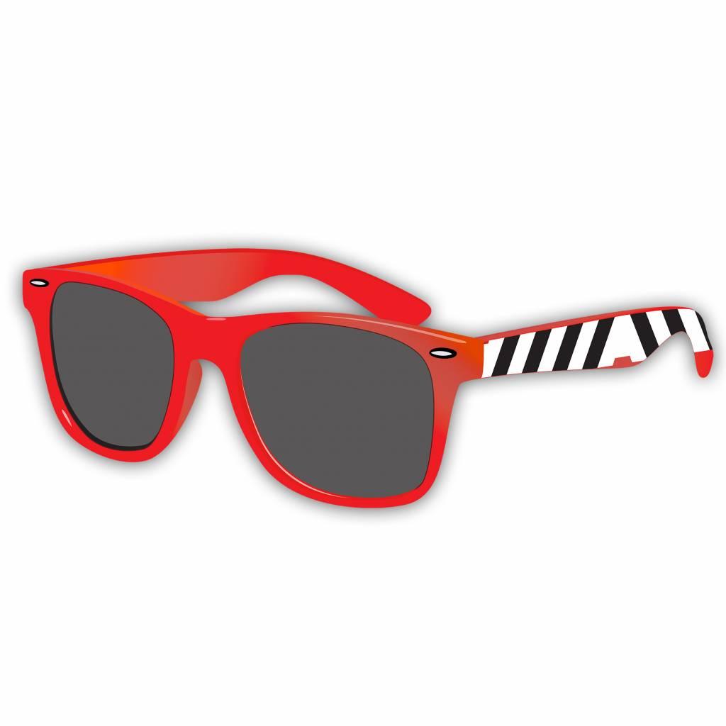 Armin van Buuren A - Logo Zebra Red Sunglasses