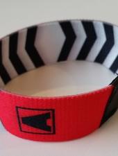 Armin van Buuren Armin van Buuren - A Zebra Red & White Elasticated Wristband