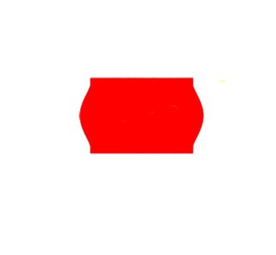 prijsetiketten 26x16 fluor rood - 1ds à 36 rol