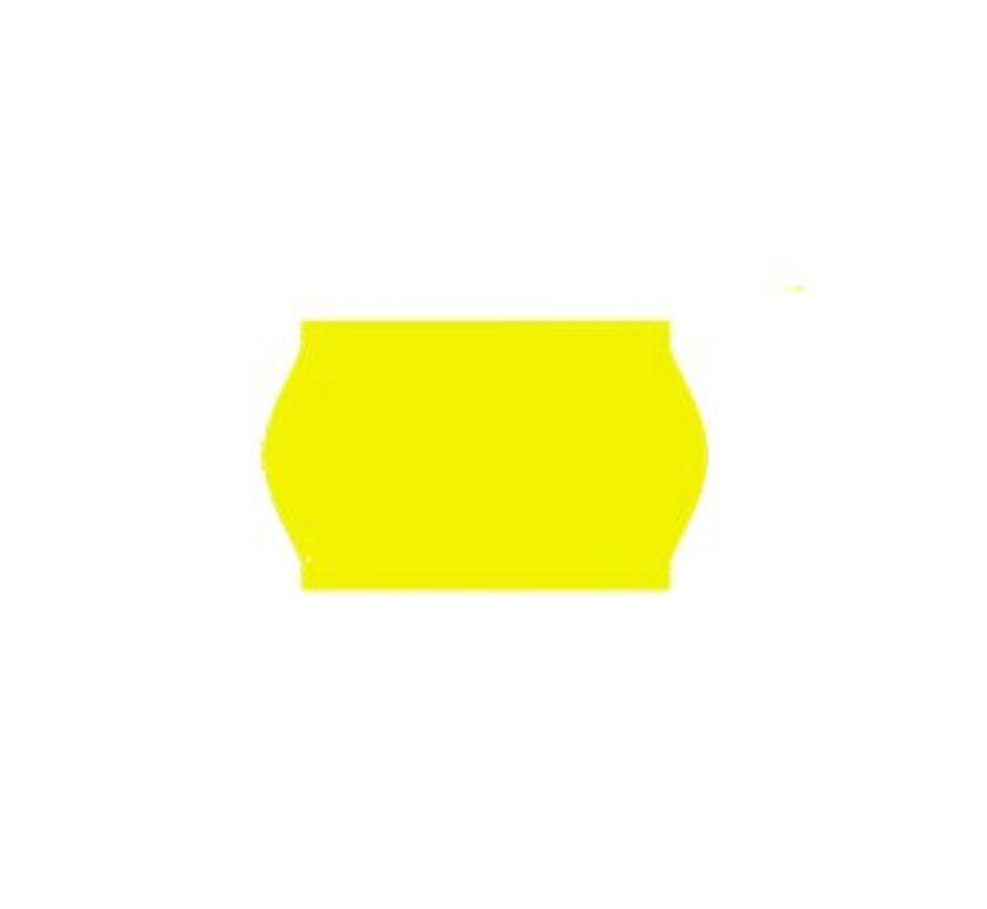 prijsetiketten 26x16 fluor geel - 1ds à 36 rol