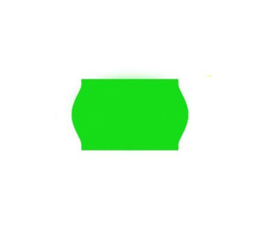 prijsetiketten 26x16 fluor groen - 1ds à 36 rol