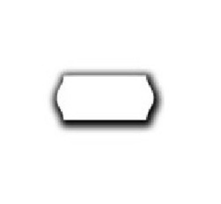 prijsetiketten 26x12 wit - 12 rol à 1500 etiketten