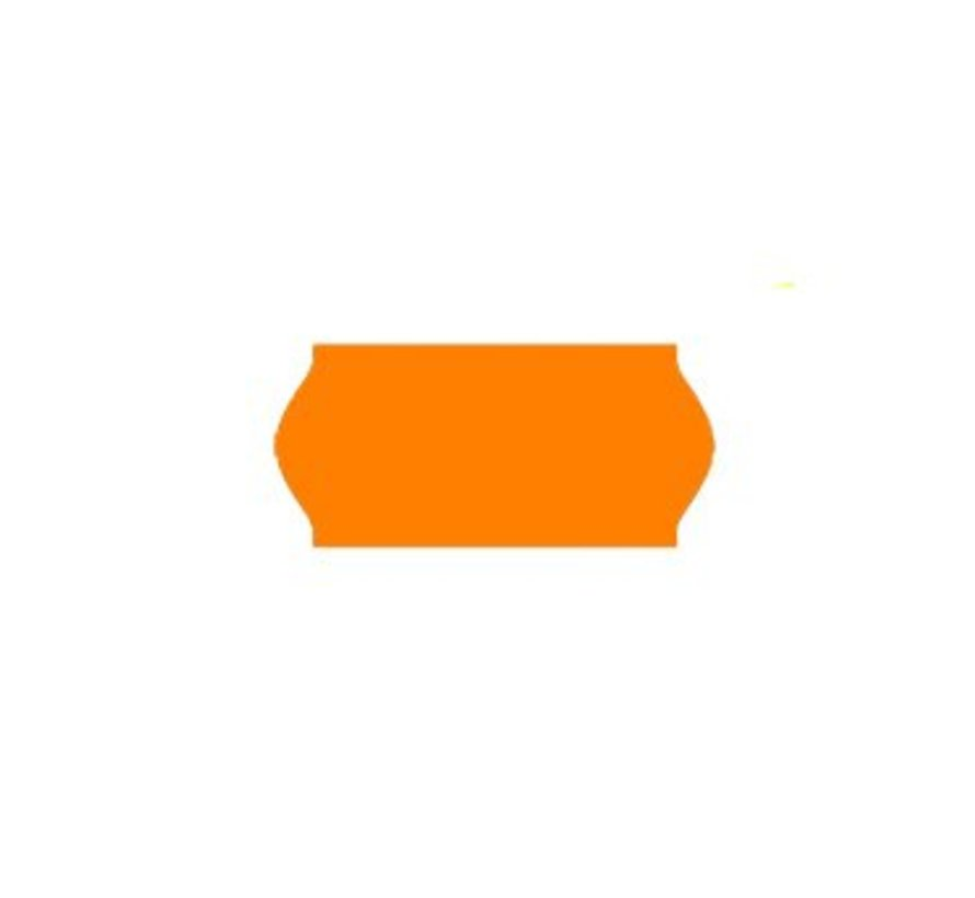 prijsetiketten 26x12 fluor oranje - 1ds à 36 rol