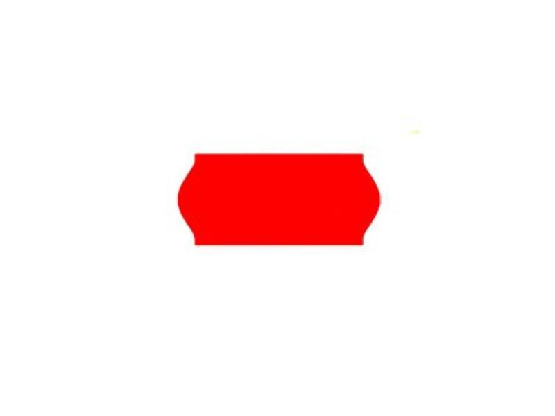 Printex prijsetiketten 26x12 fluor rood - 1ds à 36 rol