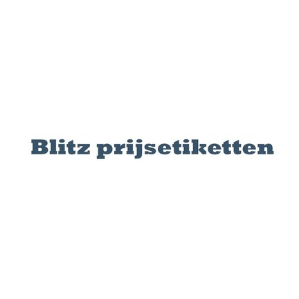 BLITZ prijsetiketten