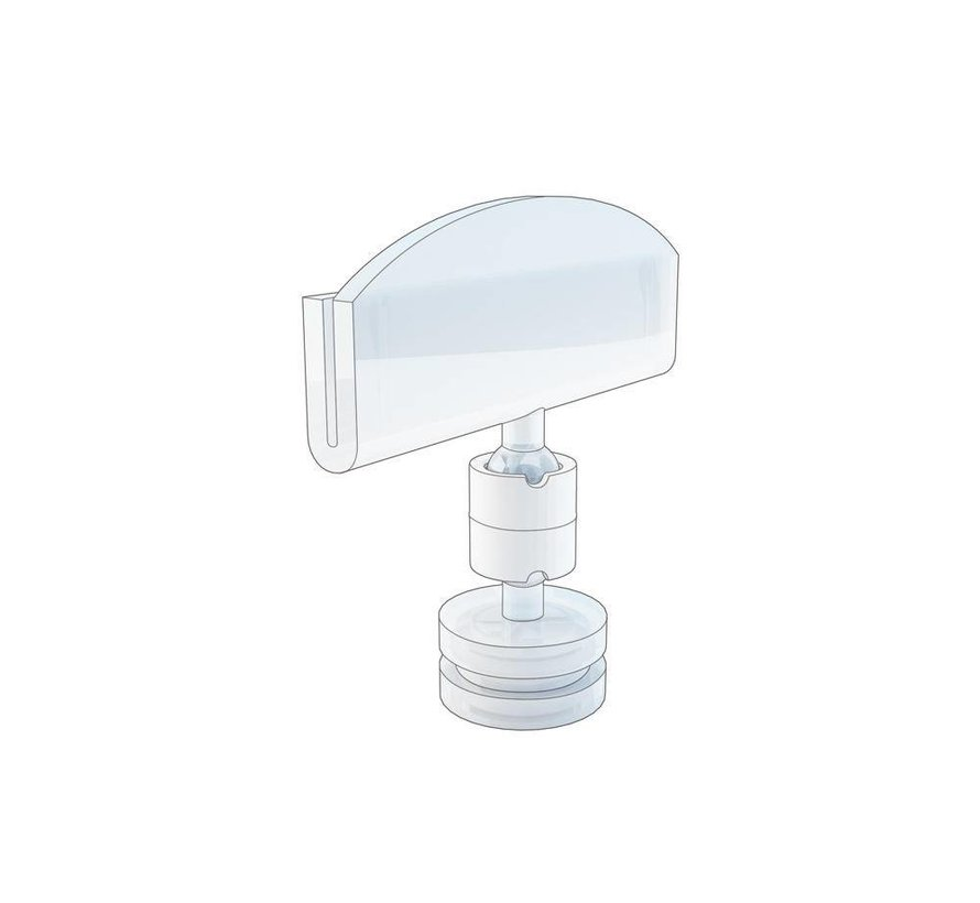Prijskaarthouder met kleine magneetvoet