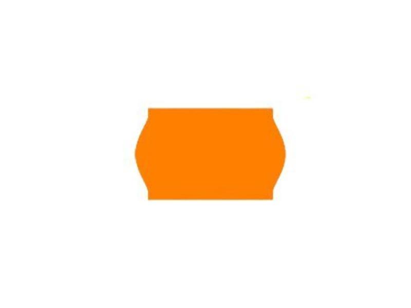 Printex prijsetiketten 26x16 fluor oranje - 1ds à 36 rol