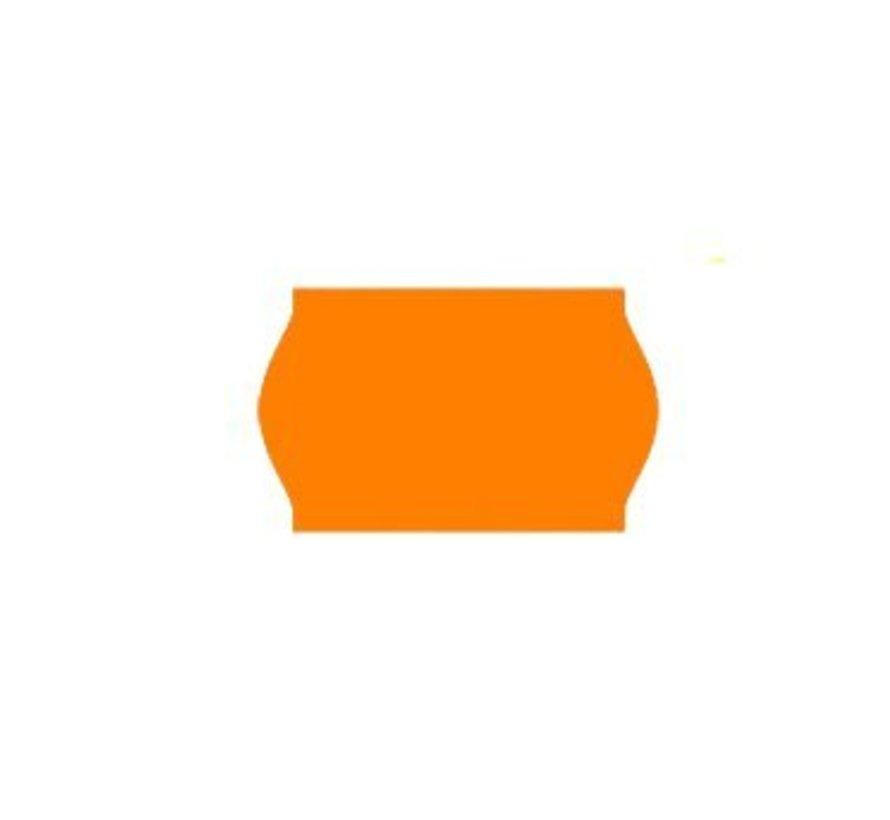 prijsetiketten 26x16 fluor oranje - 1ds à 36 rol