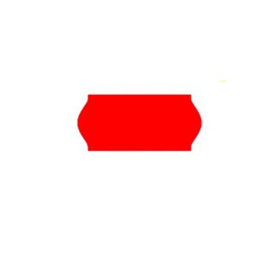 prijsetiketten 26x12 fluor rood - 1ds à 36 rol