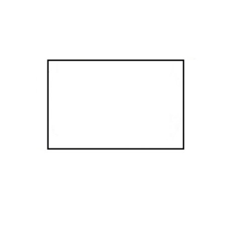 BLITZ prijsetiketten 26x16 wit rechthoek - 1ds á 36 rol