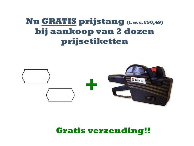 BLITZ Gratis prijstang (blitz C8) bij 2 dozen prijsetiketten! (Pakket)